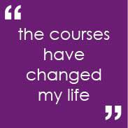 Mark's quote - the courses have changed my life